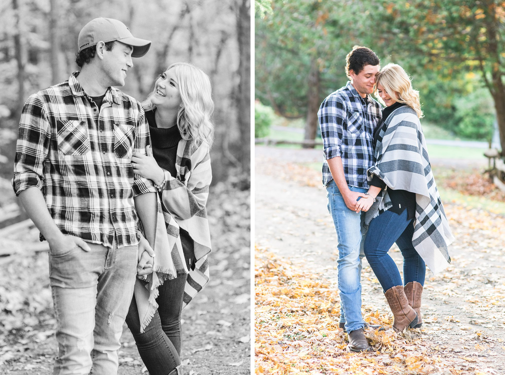 Fall leaves on the ground Old Chelsea Engagement Photos by Amy Pinder Photography