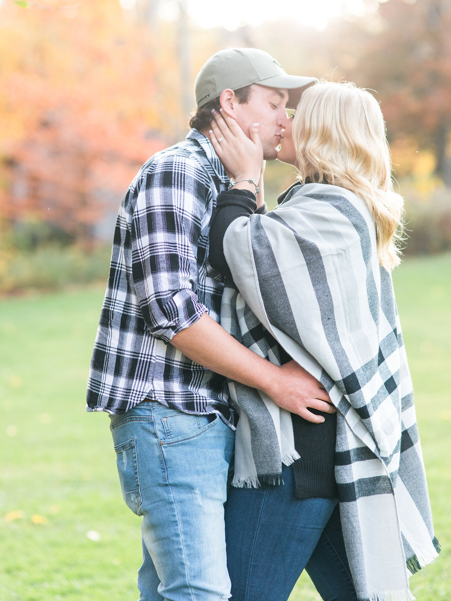 Sunset photos in fall Old Chelsea Engagement Photos by Amy Pinder Photography
