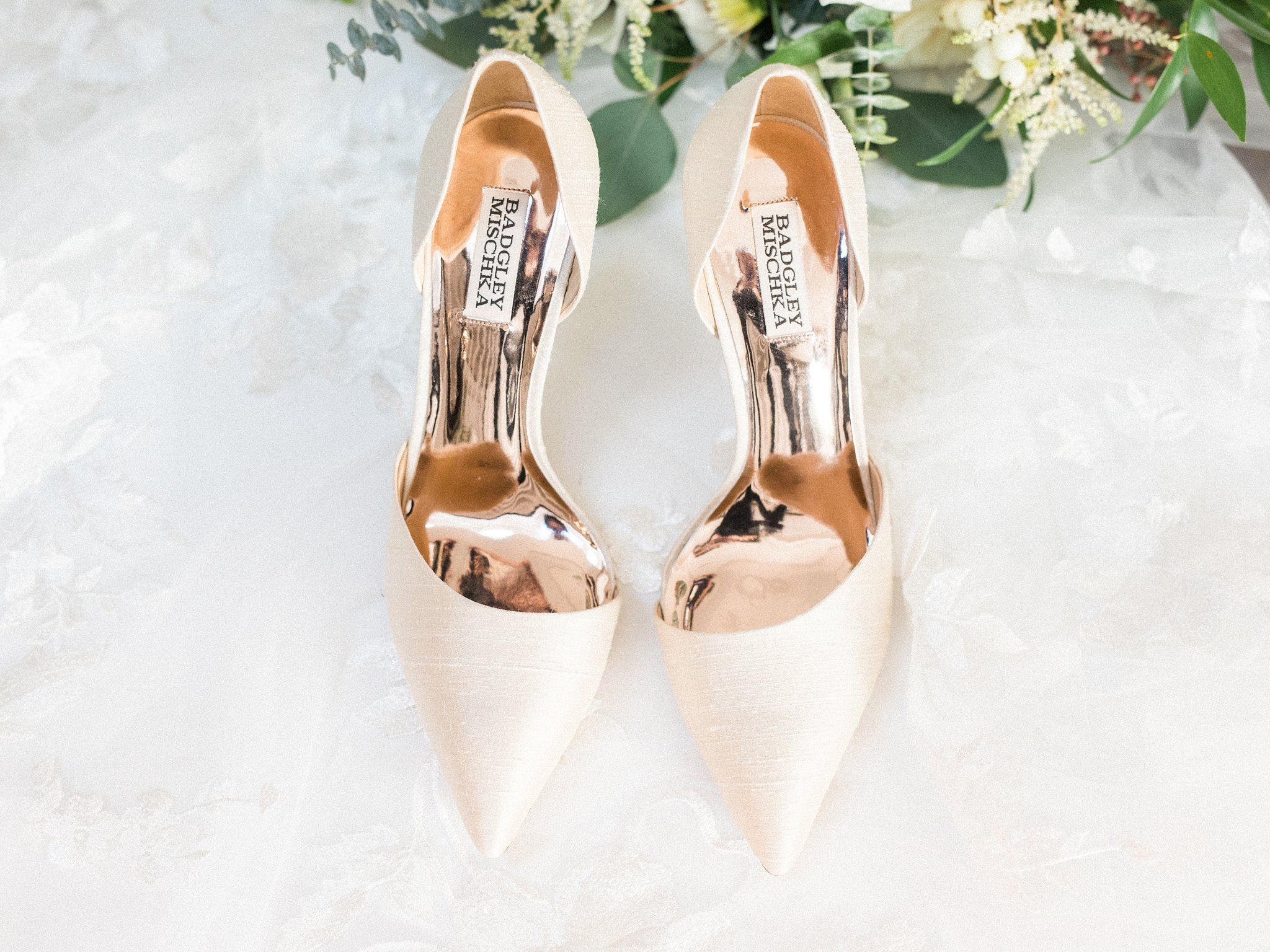 Badgley Mischa bridal heels, Opinicon Wedding Photos by Amy Pinder Photography