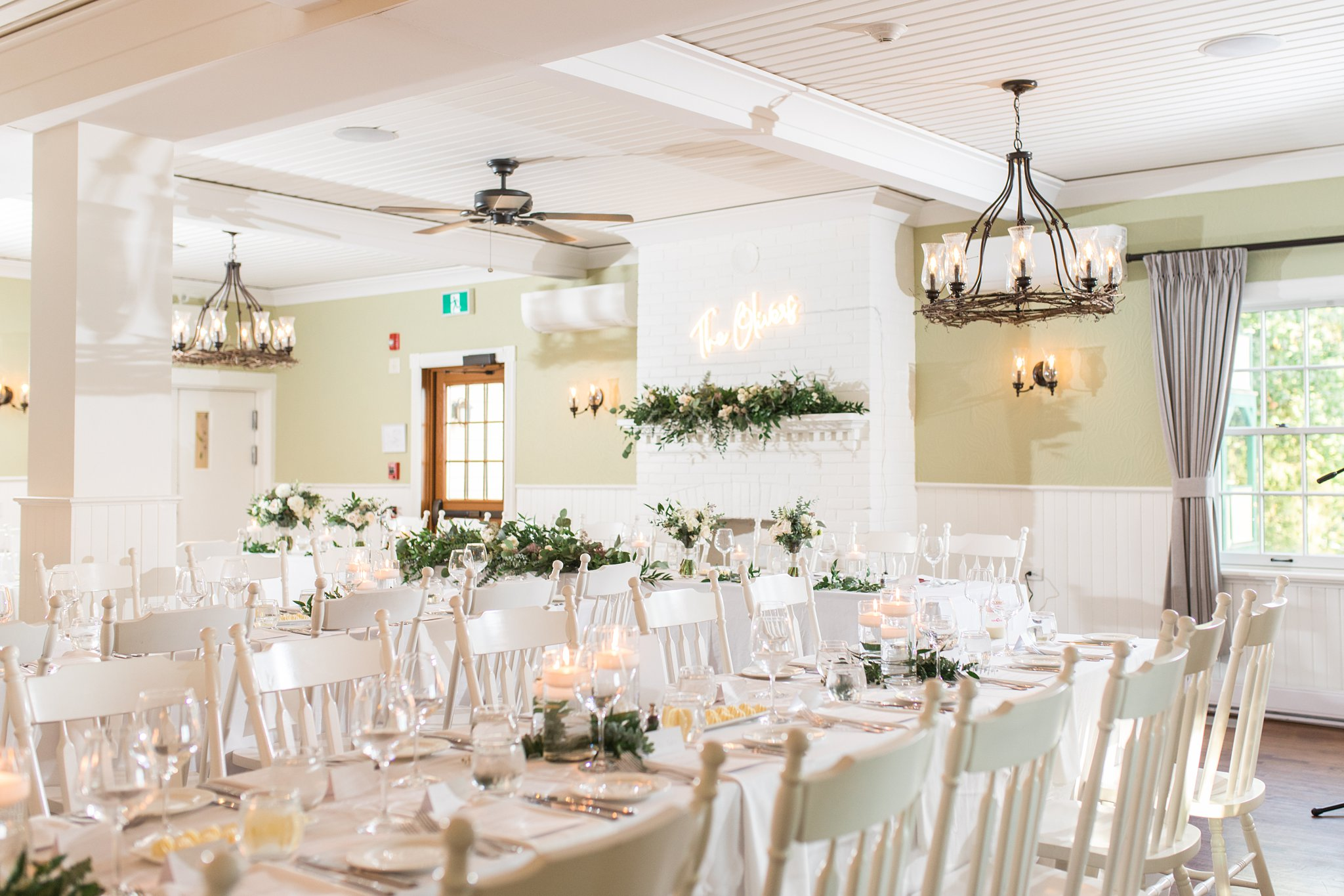 Reception room at the Opinicon Wedding by Amy Pinder Photography
