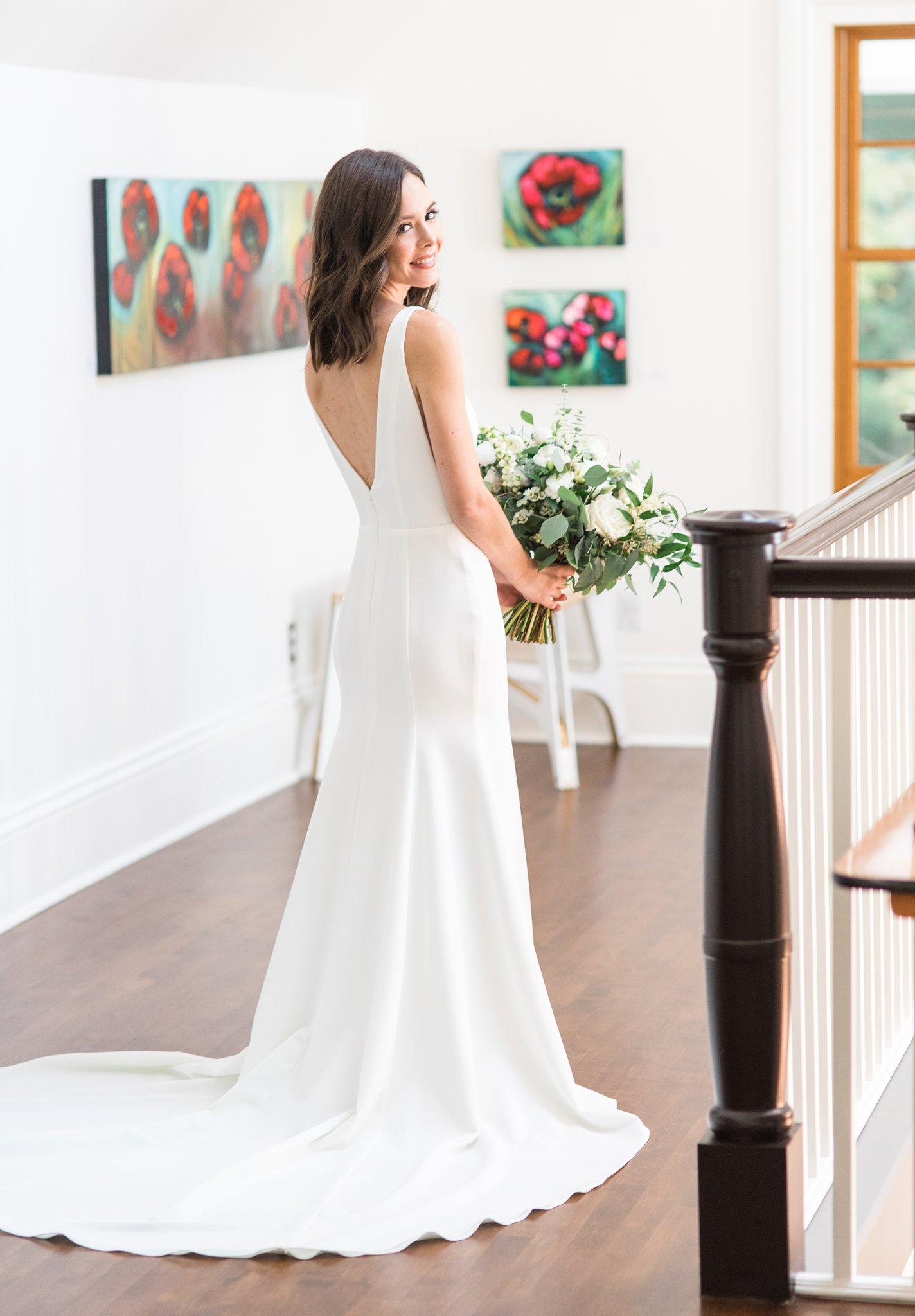 Minimalist bride at the Opinicon Wedding by Amy Pinder Photography