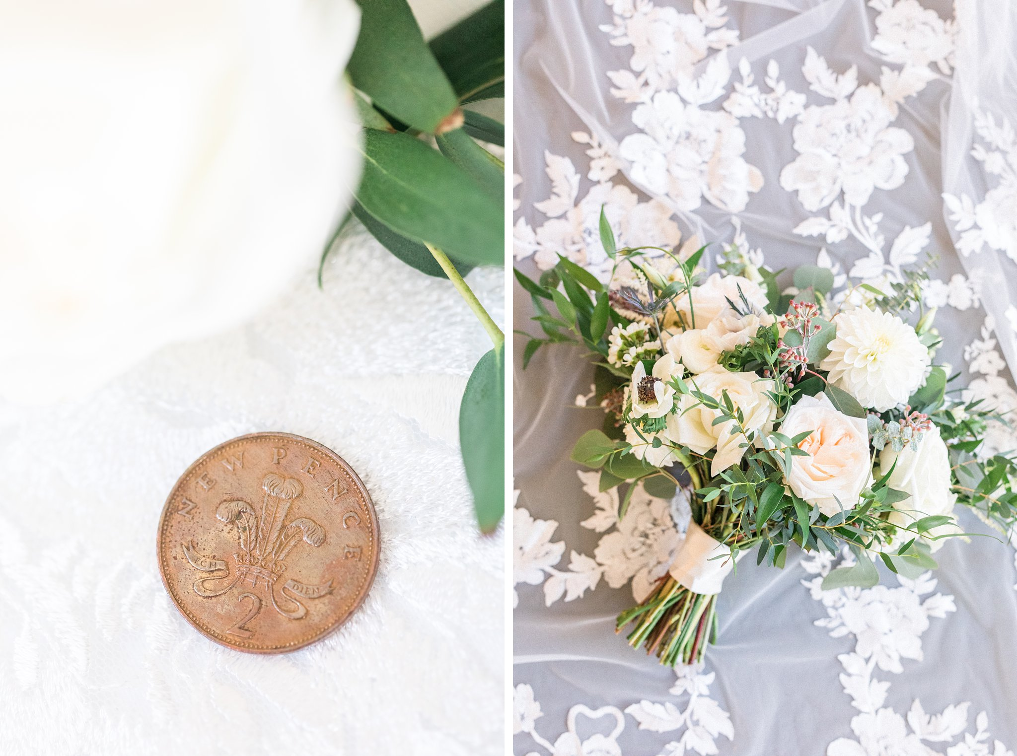 Lucky penny new pence coin, Opinicon Wedding Photos by Amy Pinder Photography