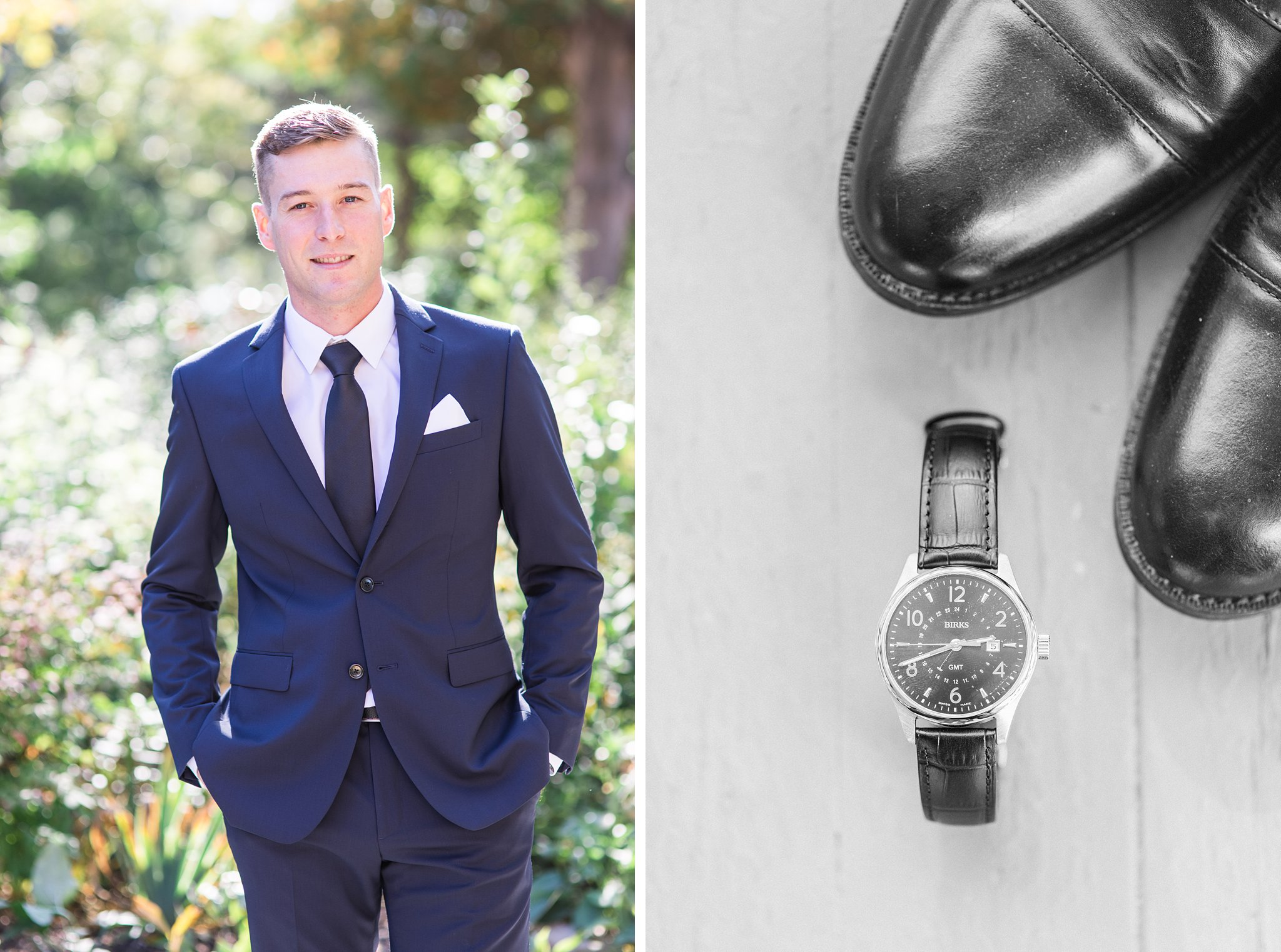 Groom prep, watch and groom with hands in pockets, Opinicon Wedding Photos by Amy Pinder Photography