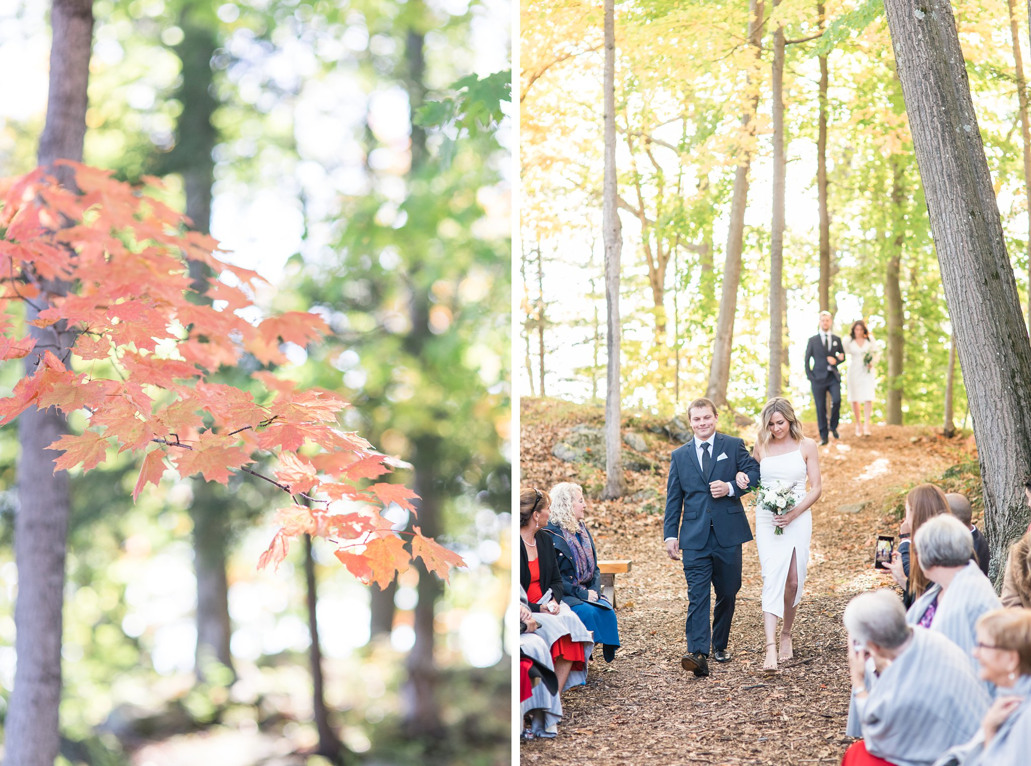 Ceremony in the forest, Opinicon Wedding Photos by Amy Pinder Photography