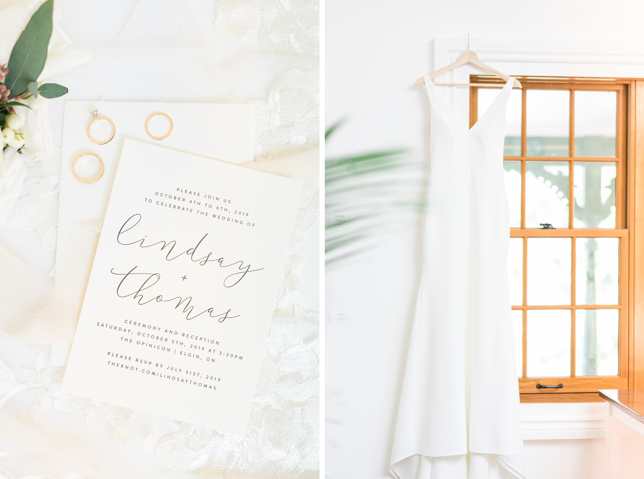 Calligraphy cursive wedding invitation minimalist, Opinicon Wedding Photos by Amy Pinder Photography