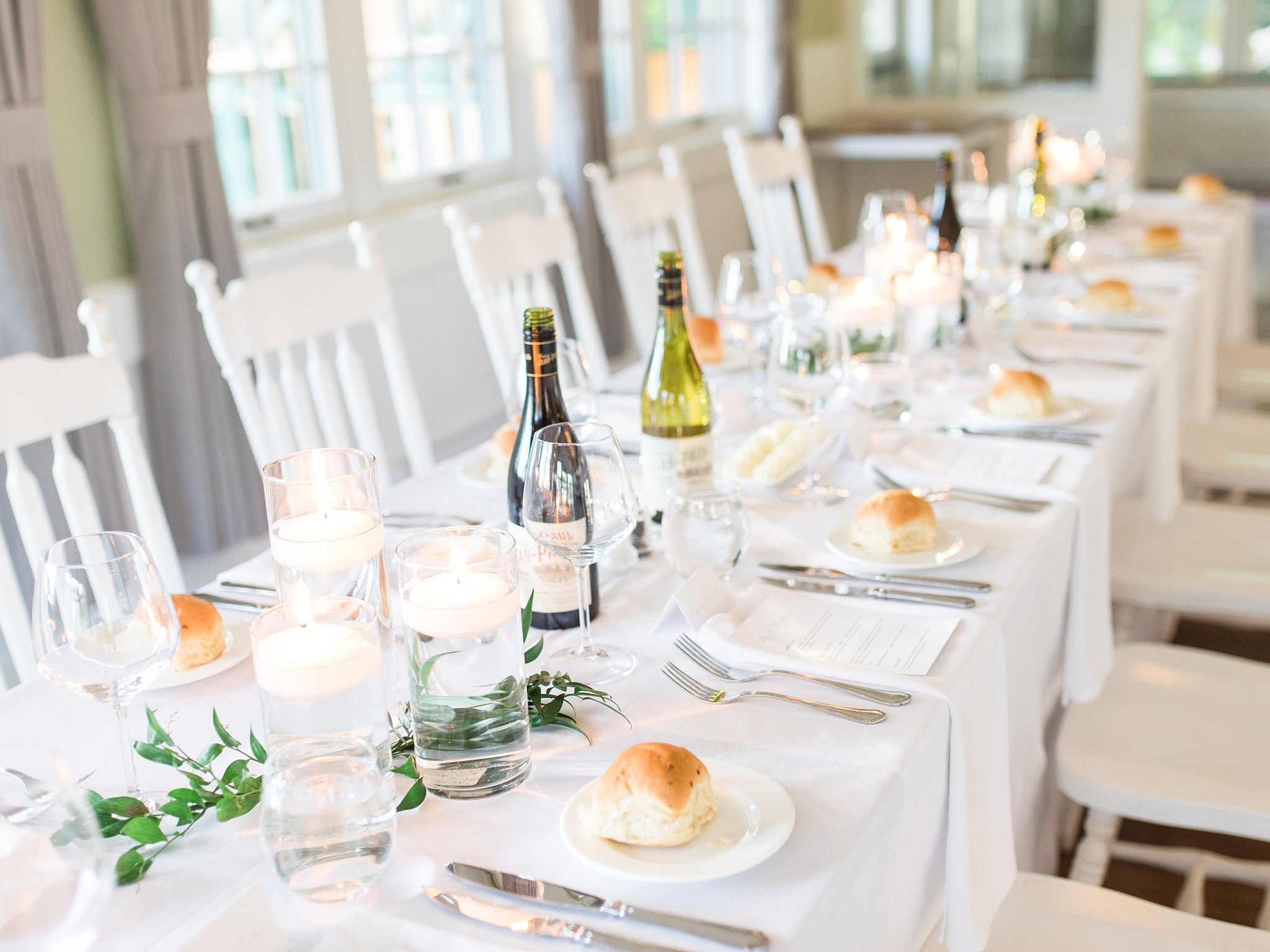 Wine on the tables at the Opinicon Wedding by Amy Pinder Photography