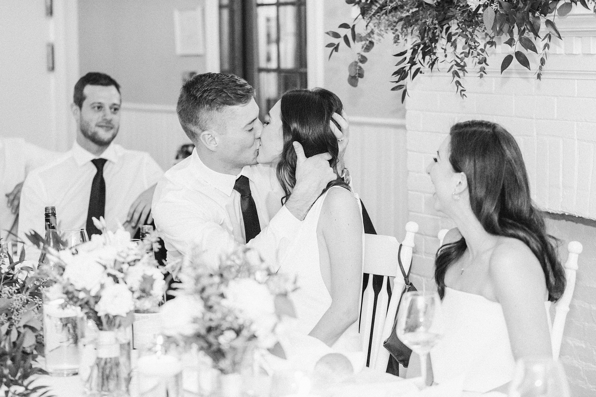 Kissing game at the Opinicon Wedding by Amy Pinder Photography