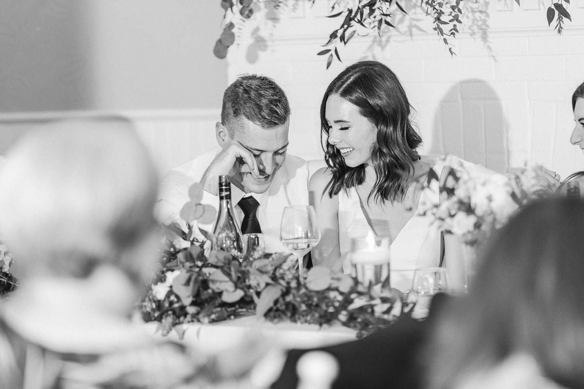 Bride and groom laugh at the Opinicon Wedding by Amy Pinder Photography