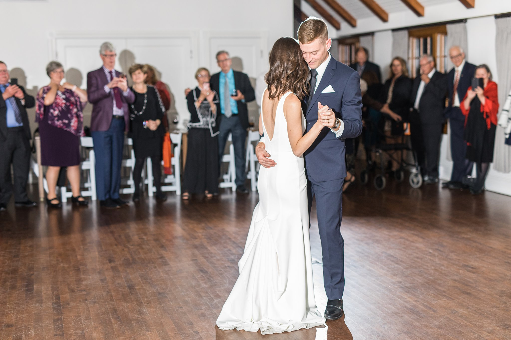 Bride and groom's first dance at the Opinicon Wedding by Amy Pinder Photography