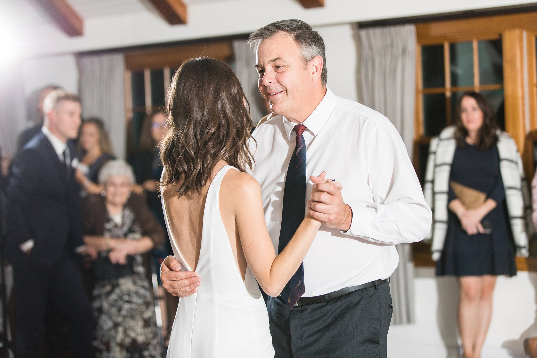 Father daughter dance at the Opinicon Wedding by Amy Pinder Photography