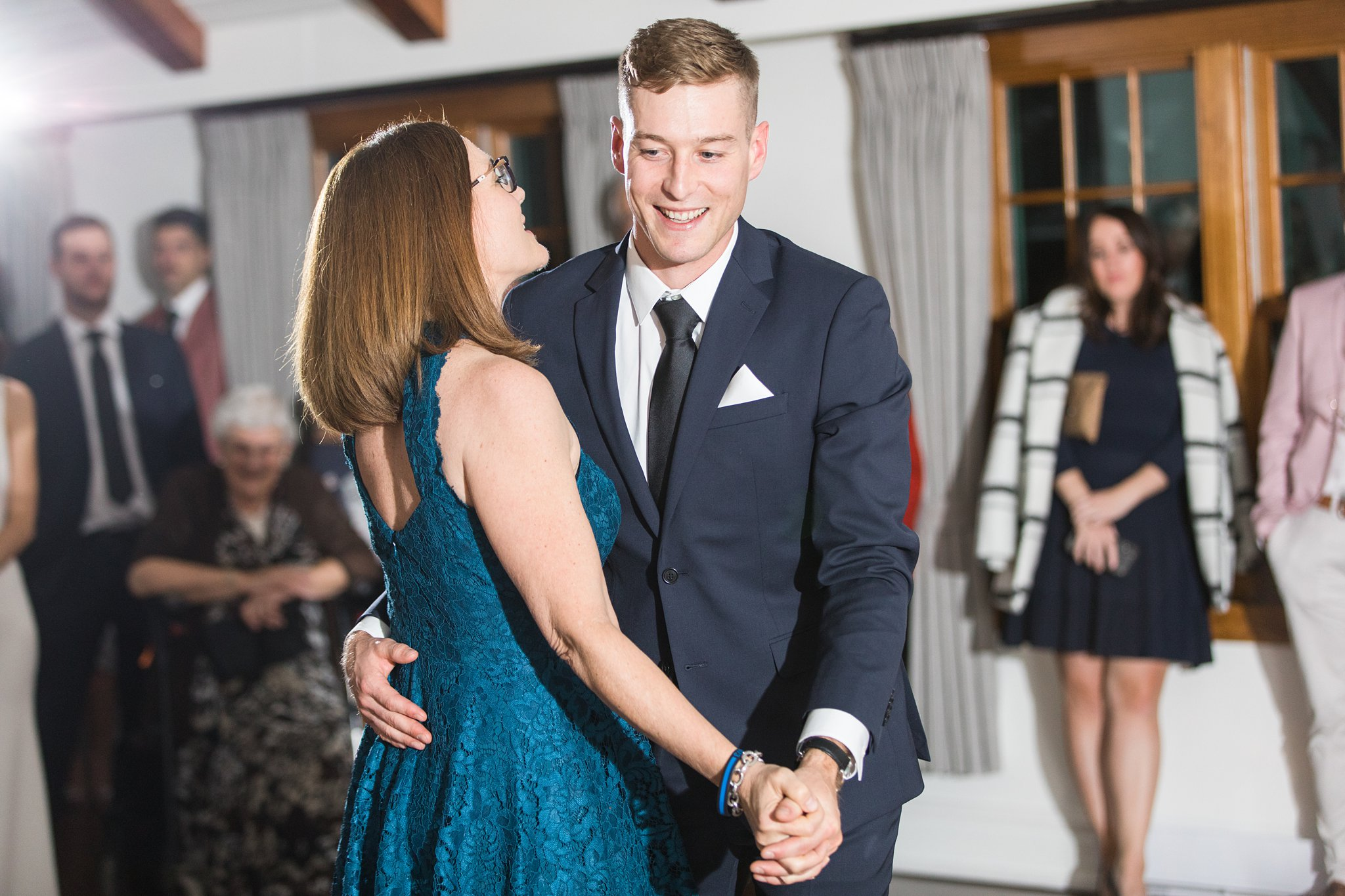 Mother son dance at the Opinicon Wedding by Amy Pinder Photography