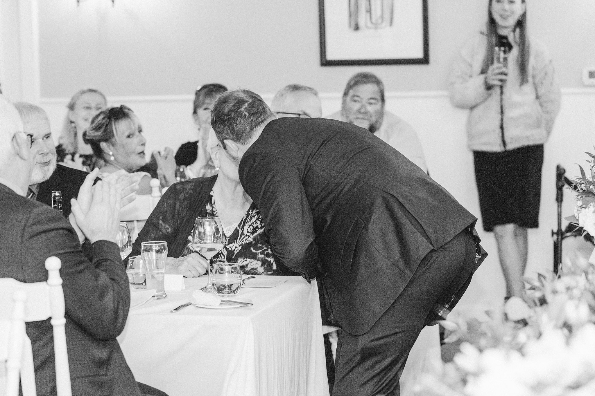 Grandma gets kissed at the kissing game, Opinicon Wedding by Amy Pinder Photography