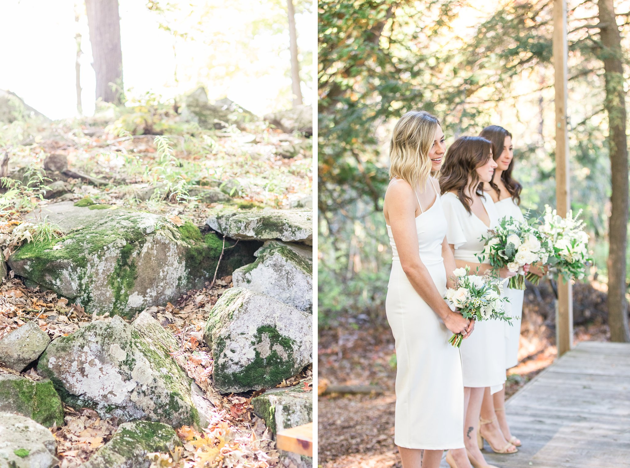 Forest wedding ceremony, Opinicon Wedding Photos by Amy Pinder Photography
