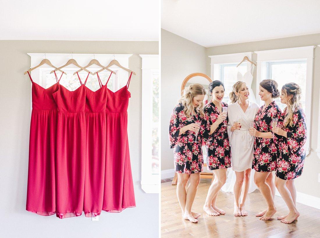 Red bridesmaid dresses open back Jabulani Wedding photos